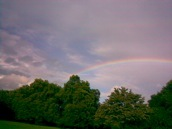 Rainbow over the serpentine